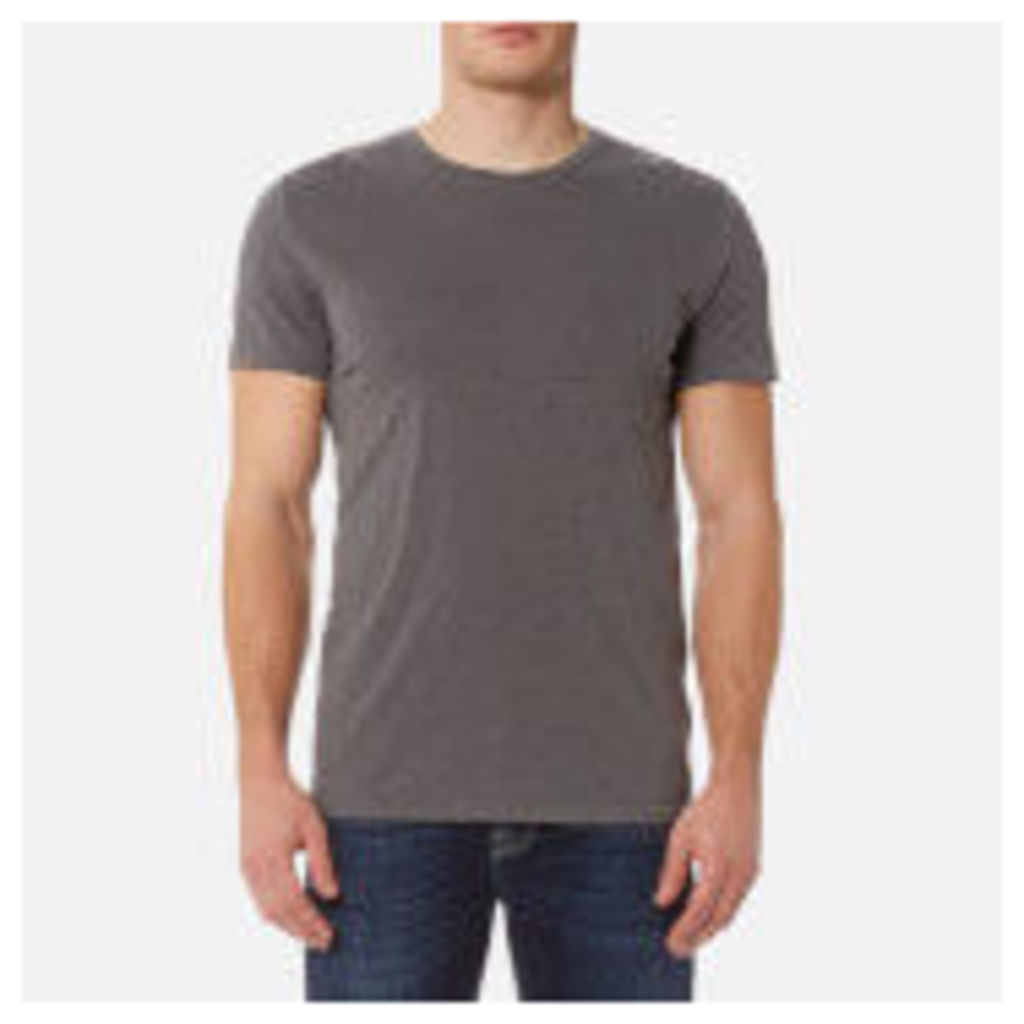 7 For All Mankind Men's Basic T-Shirt - Almost Black - M - Black
