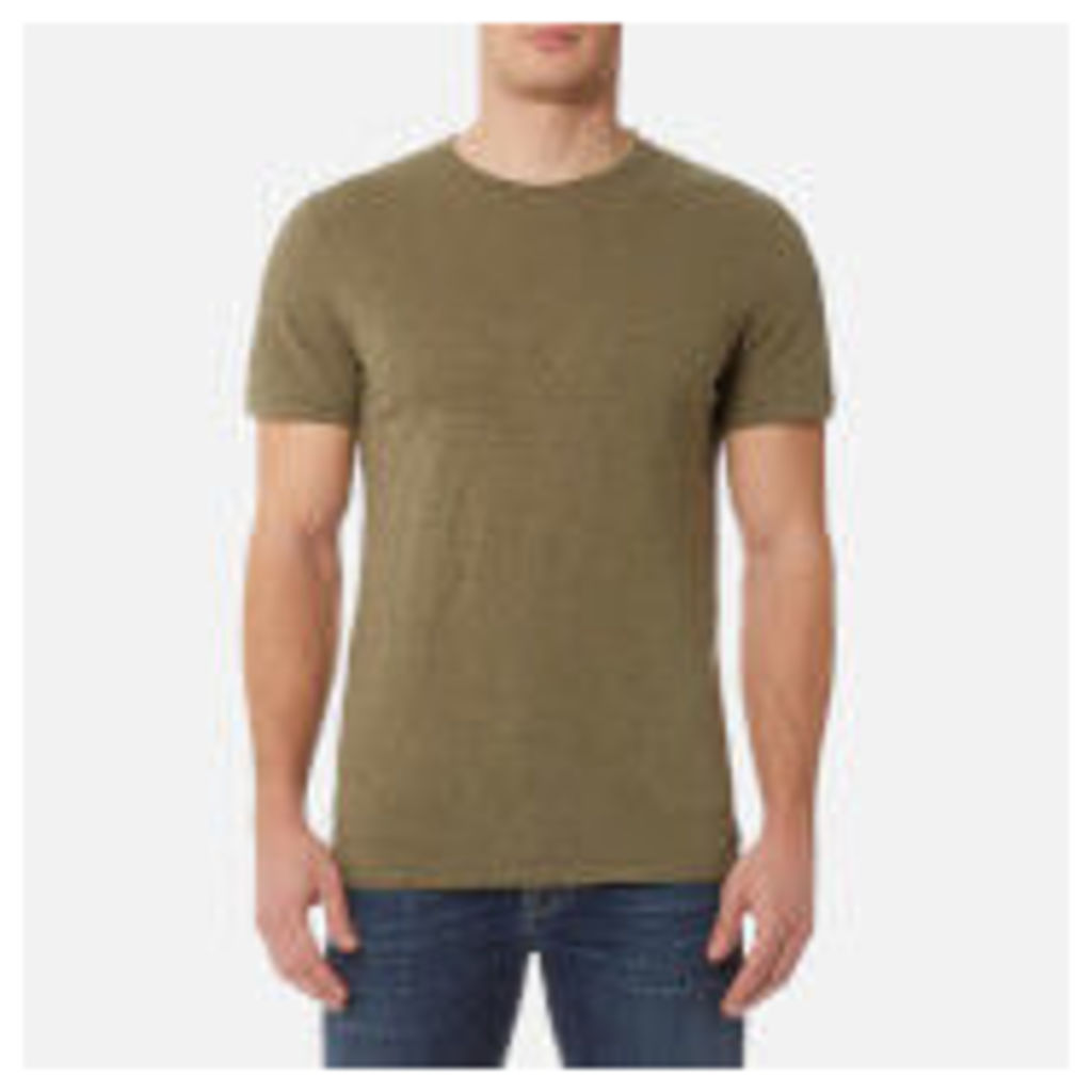 7 For All Mankind Men's Basic T-Shirt - Army - S - Green