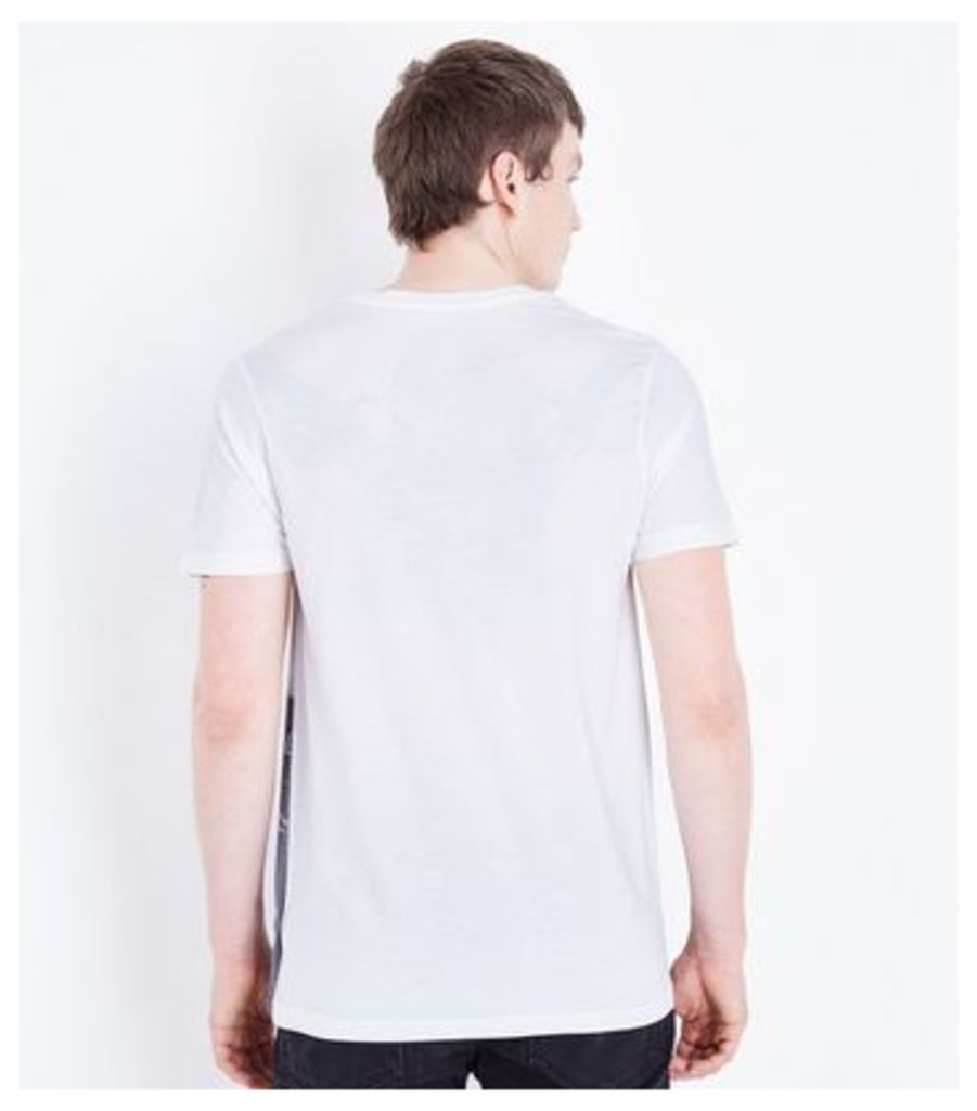 White New York Slogan Graphic Front T-Shirt New Look