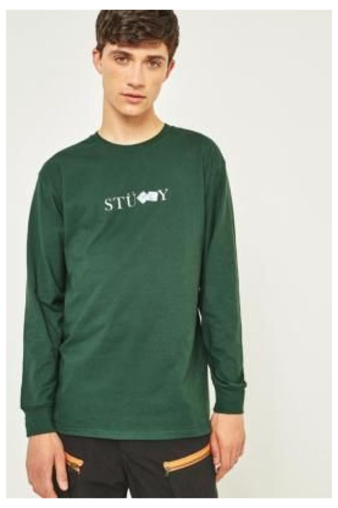 Stussy Prism Dice Dark Forest Long-Sleeve T-shirt, Olive