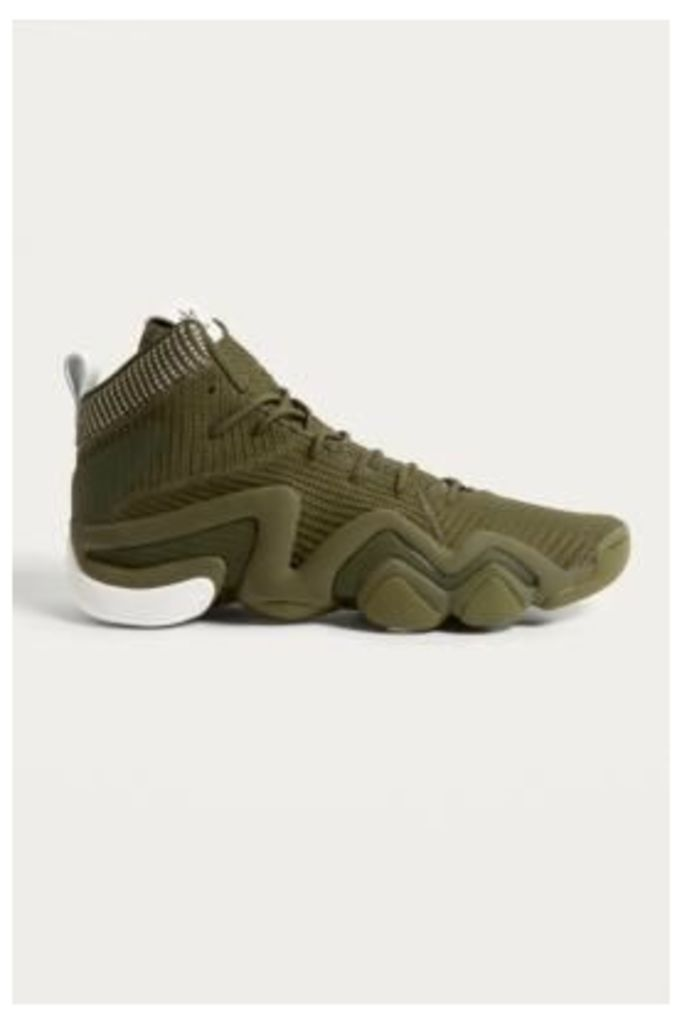 adidas Crazy 8 ADV Moss Primeknit Trainers, Olive