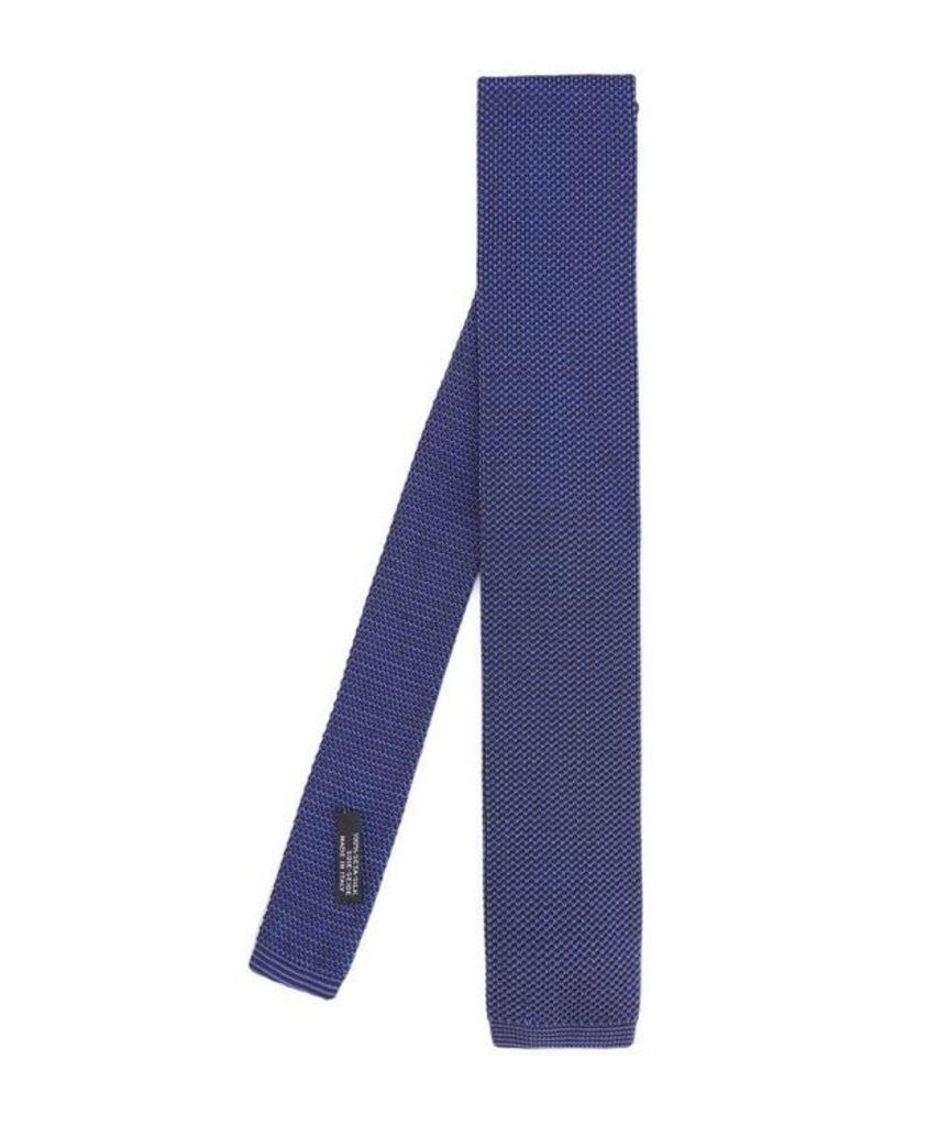 Printed Knit Silk Tie