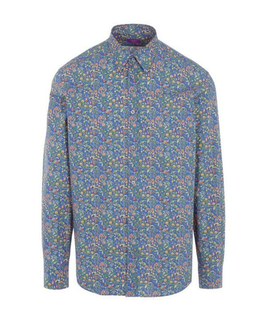 Catesby Print Poplin Cotton Shirt