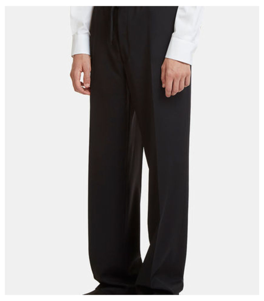 Drawstring Wide Leg Suiting Pants