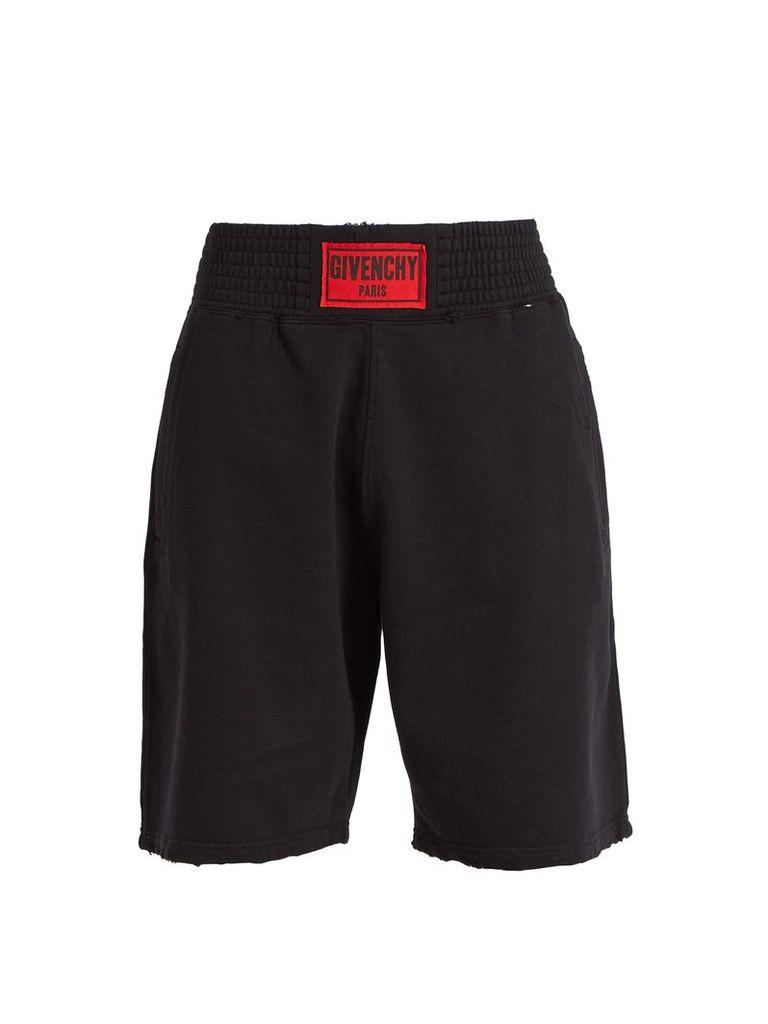 Logo-patch cotton-jersey shorts
