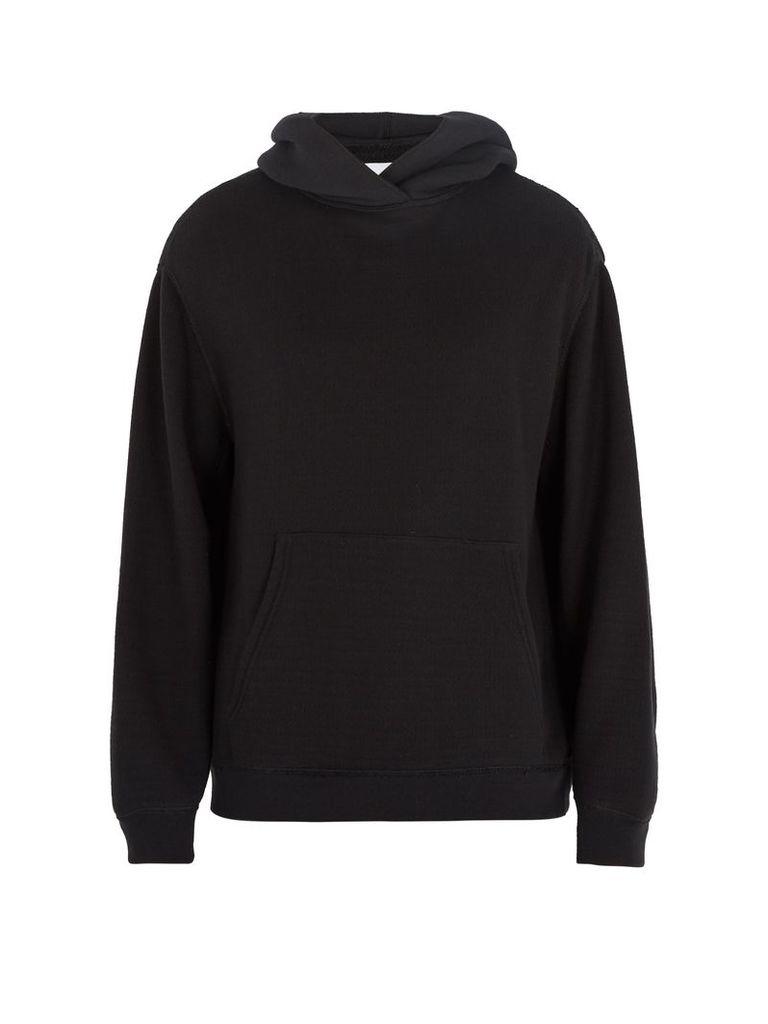 Over-the-head Japanese-jersey hooded sweatshirt