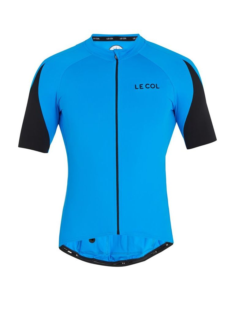 Climate zip-through cycle top