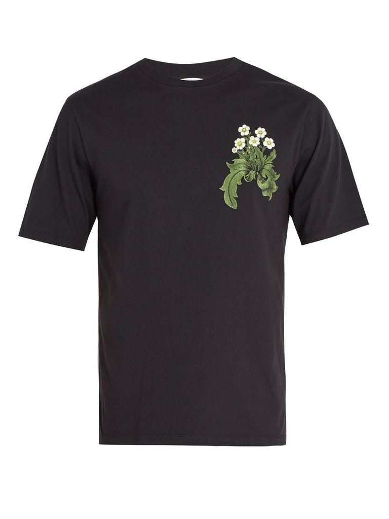X William Morris fox-print T-shirt