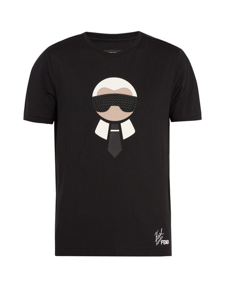 Karlito logo-appliqué cotton T-shirt
