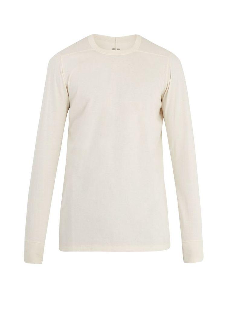 Long-sleeved cotton-jersey T-shirt