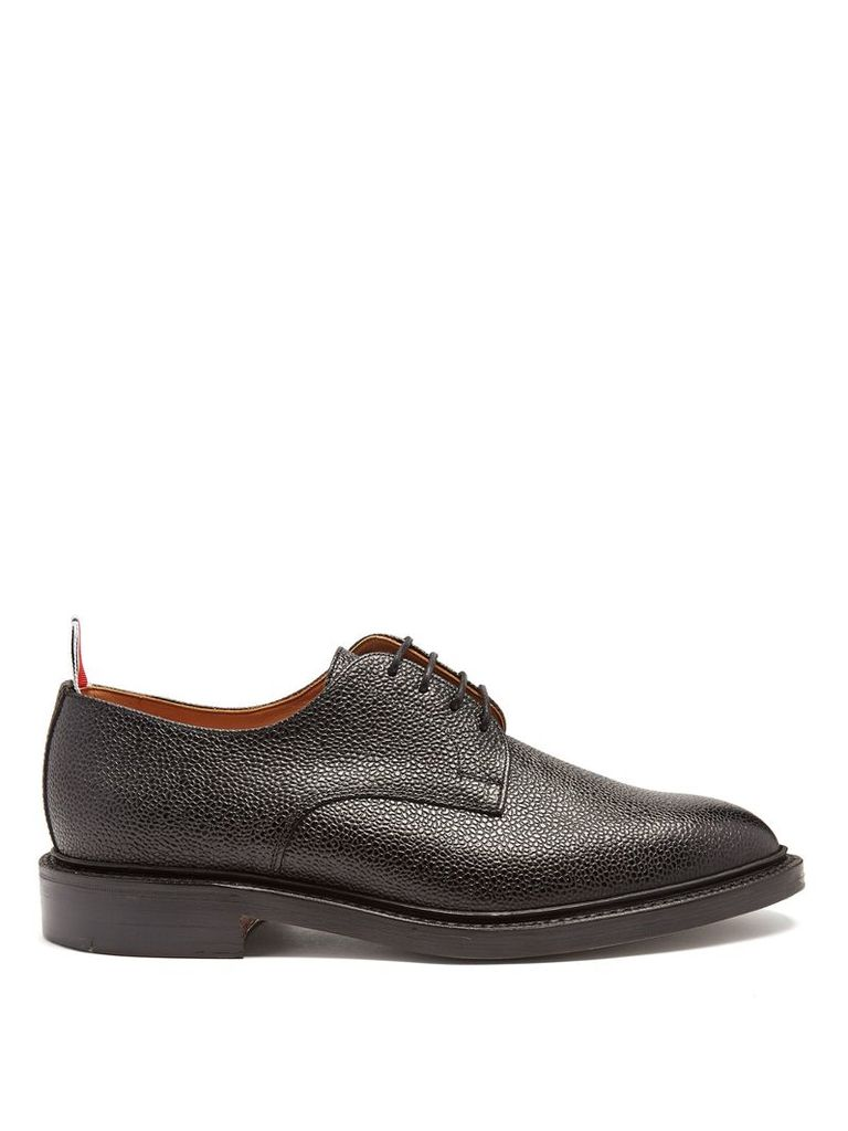 Pebbled-leather derby shoe