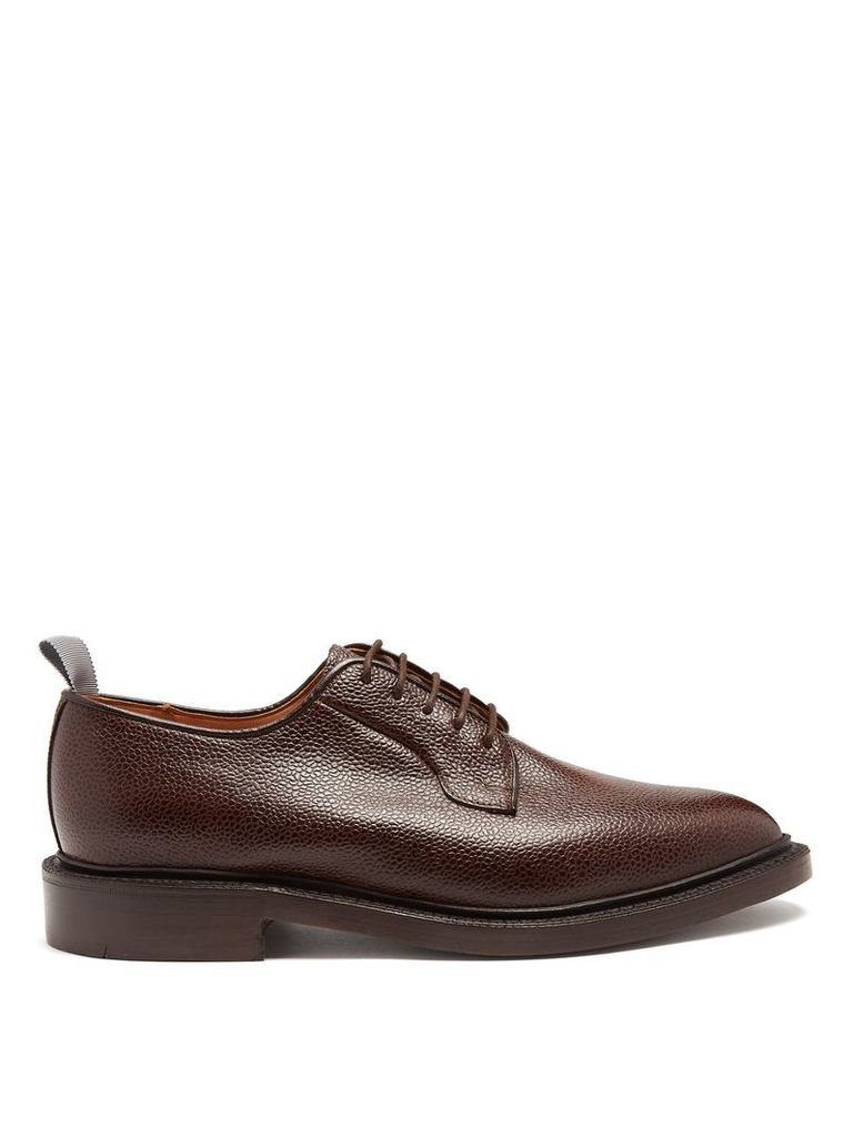 Blucher pebbled-leather brogues