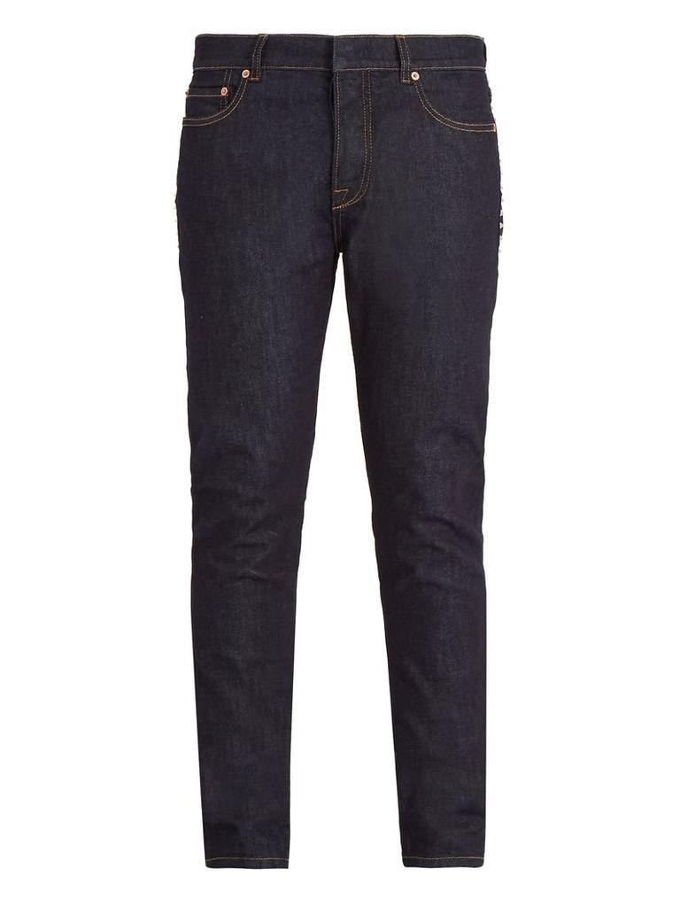Rockstud straight-leg jeans