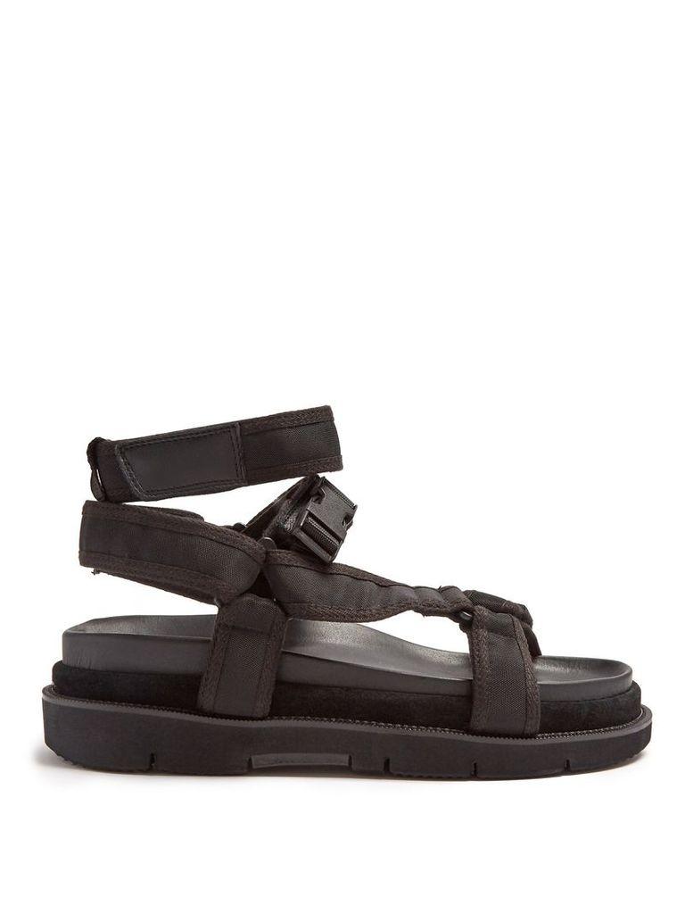 Multi-strap leather sandals