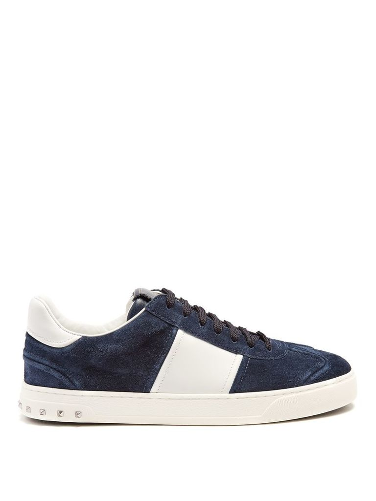 Fly Crew low-top leather trainers
