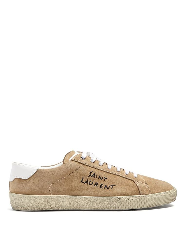 Court Classic low-top suede trainers