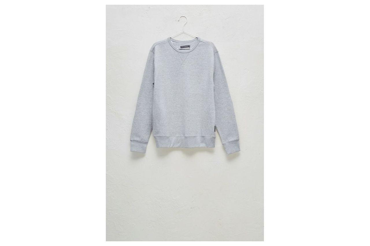 Jersey Crew Neck Sweatshirt - light grey mel/marine