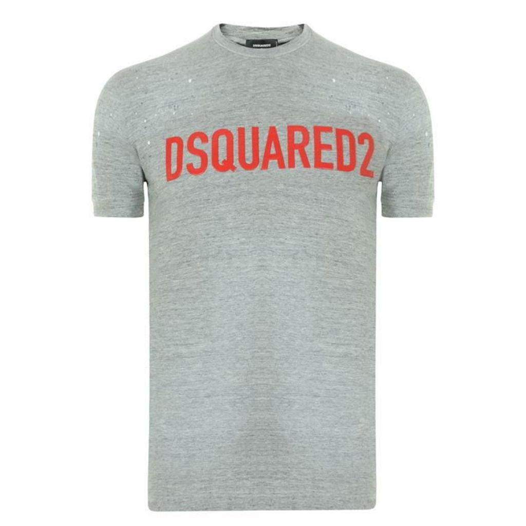 DSQUARED2 Rubber Logo T Shirt