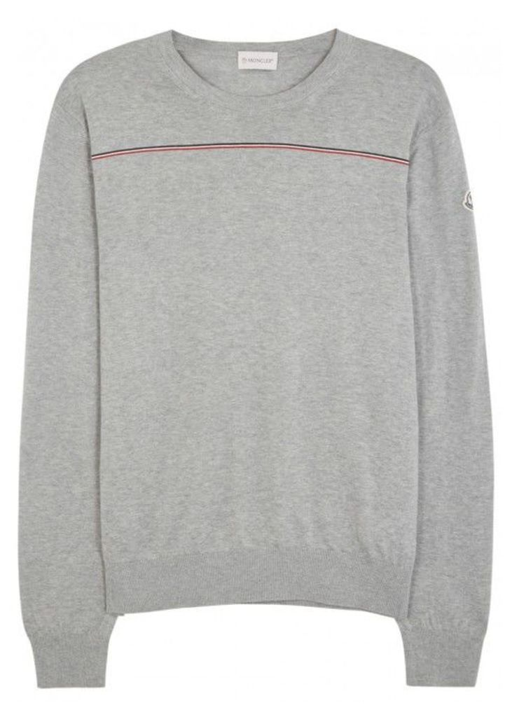 Moncler Grey Cotton Jumper - Size S