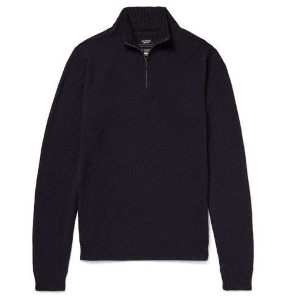 Virgin Wool Half-zip Sweater