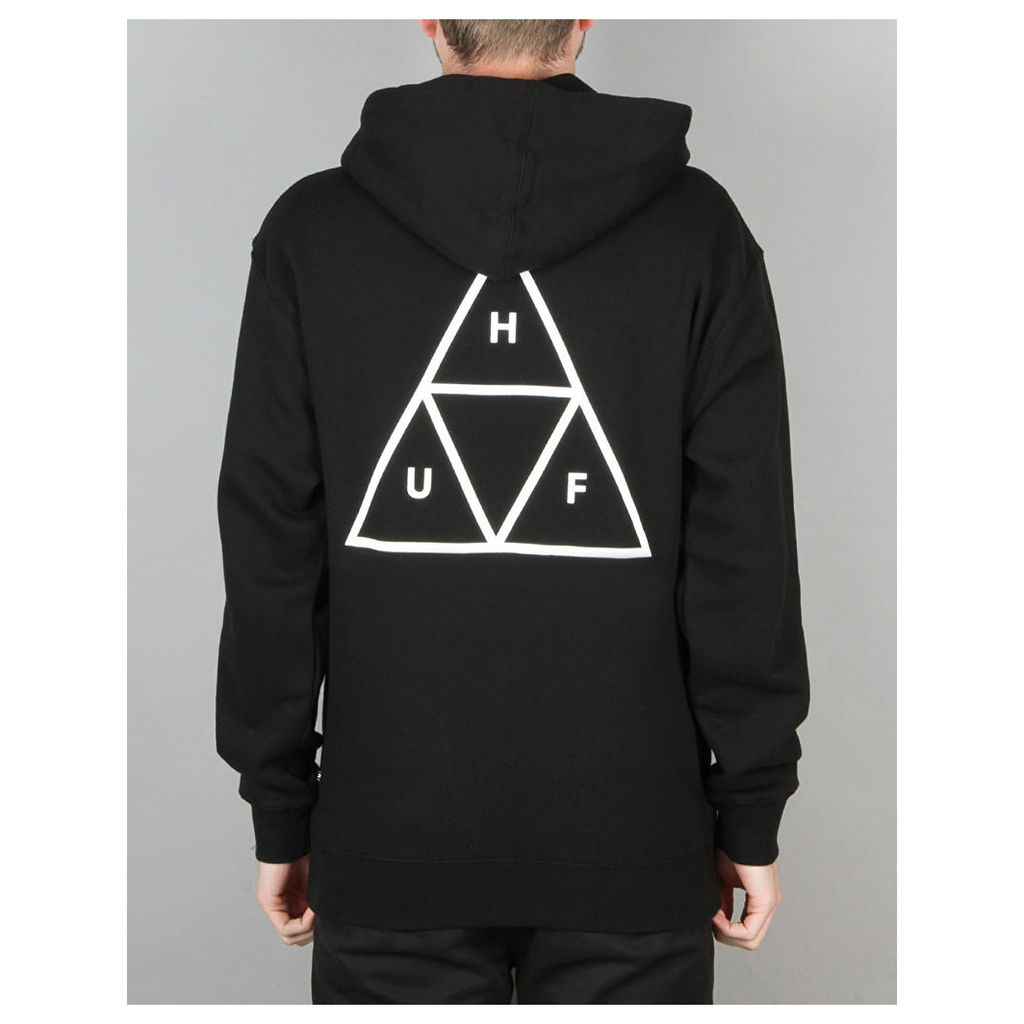 HUF Triple Triangle Pullover Hoodie - Black (XL)