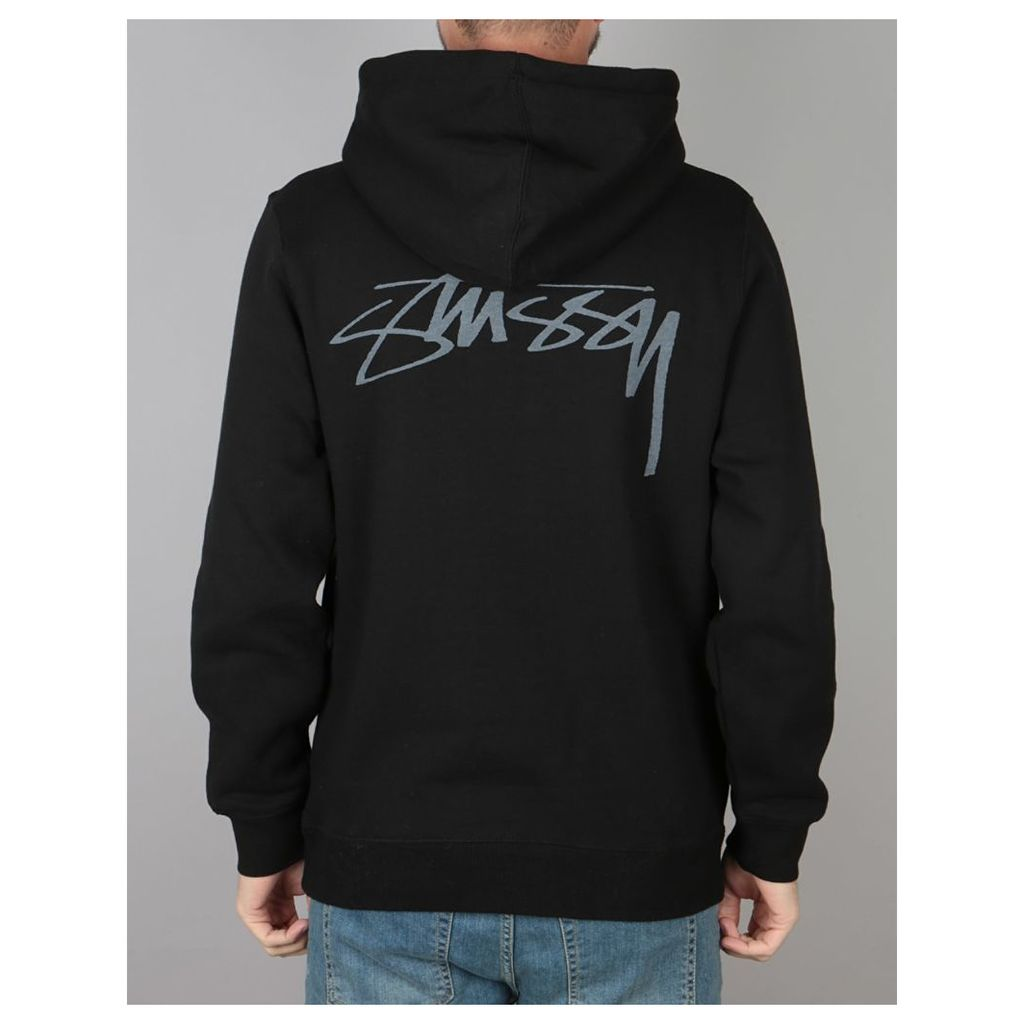 Stüssy Smooth Stock Pullover Hoodie - Black (L)