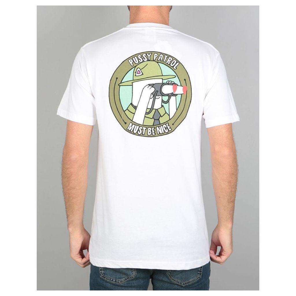 RIPNDIP Pussy Patrol T-Shirt - White (M)