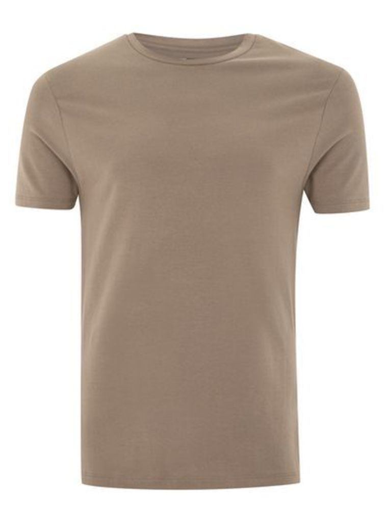 Mens White Taupe Ultra Muscle T-Shirt, White