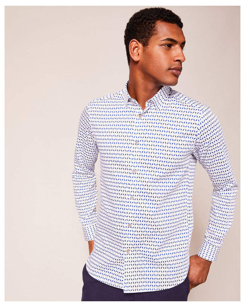 Ted Baker Geo print cotton shirt White