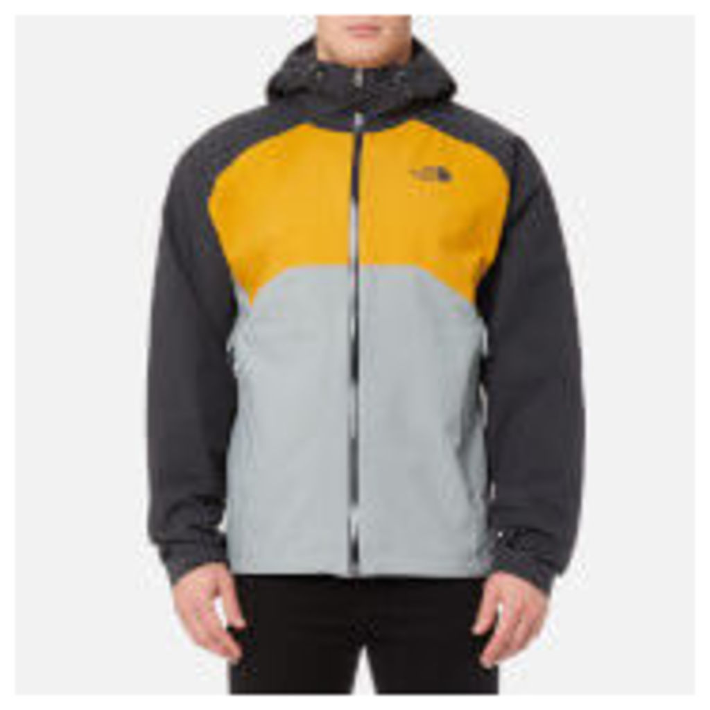 The North Face Men's Stratos Jacket - Asphalt Grey/Arrowwood Yellow/Monument Grey - XL - Grey