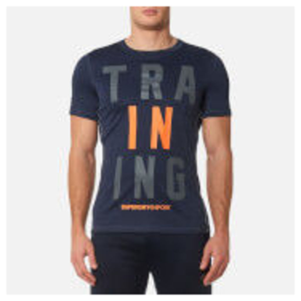 Superdry Sport Men's Sport Active Training Graphic T-Shirt - Navy Marl - M - Navy