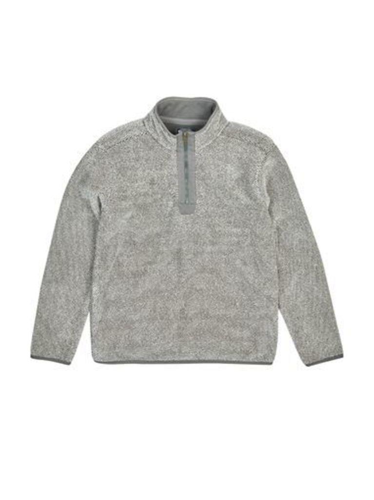 Mens Kensington Omar Cream Quarter Zip Funnel Neck Sweatshirt*, Cream