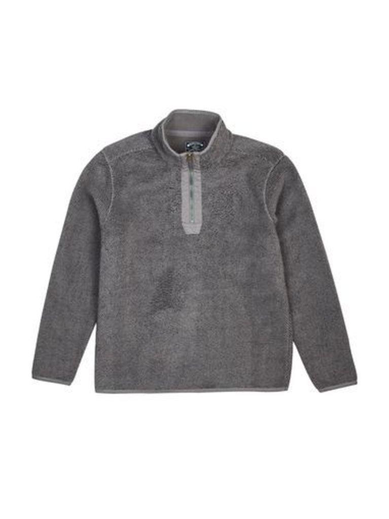 Mens Kensington Omar Black Quarter Zip Funnel Neck Fleece Jacket*, Black