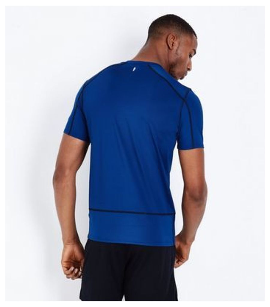 Bright Blue Stretch Short Sleeve Sports T-Shirt New Look