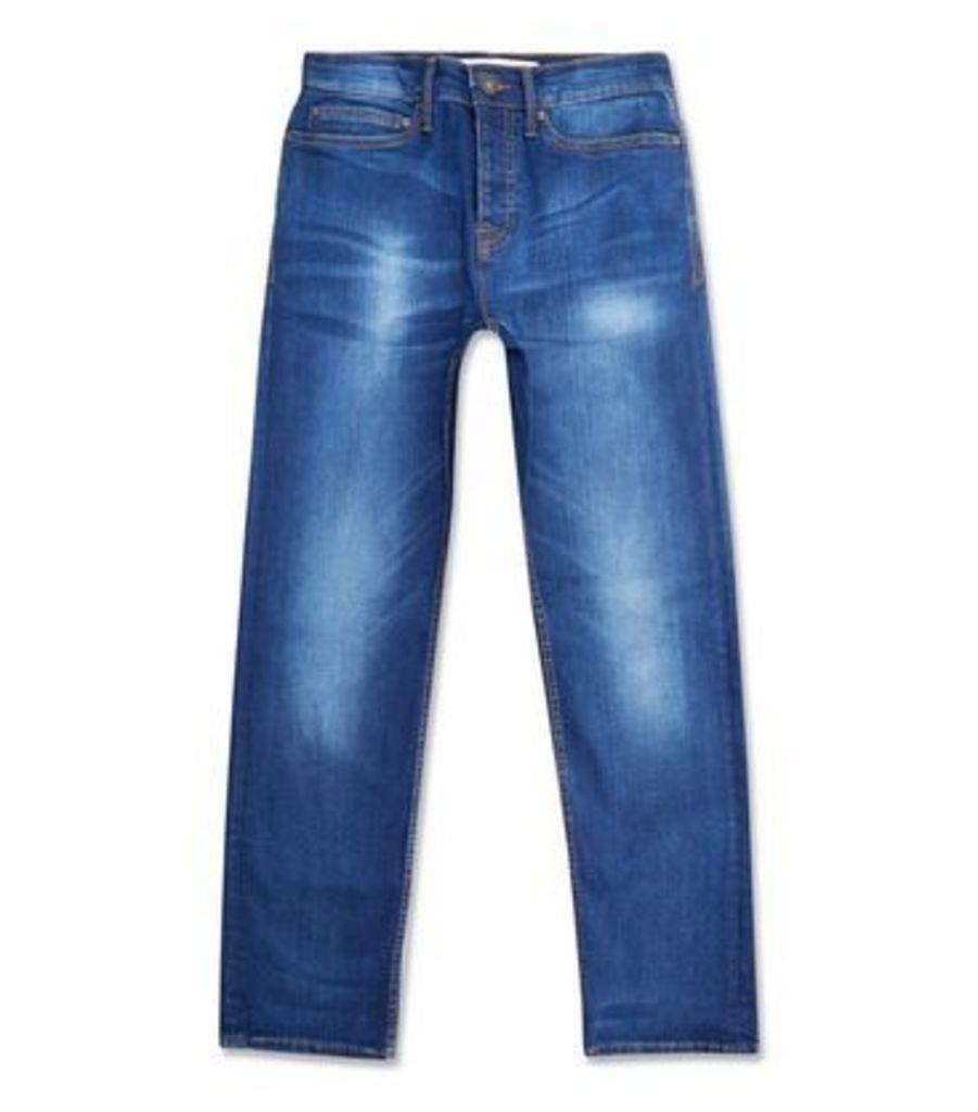 Blue Straight Leg Jeans New Look