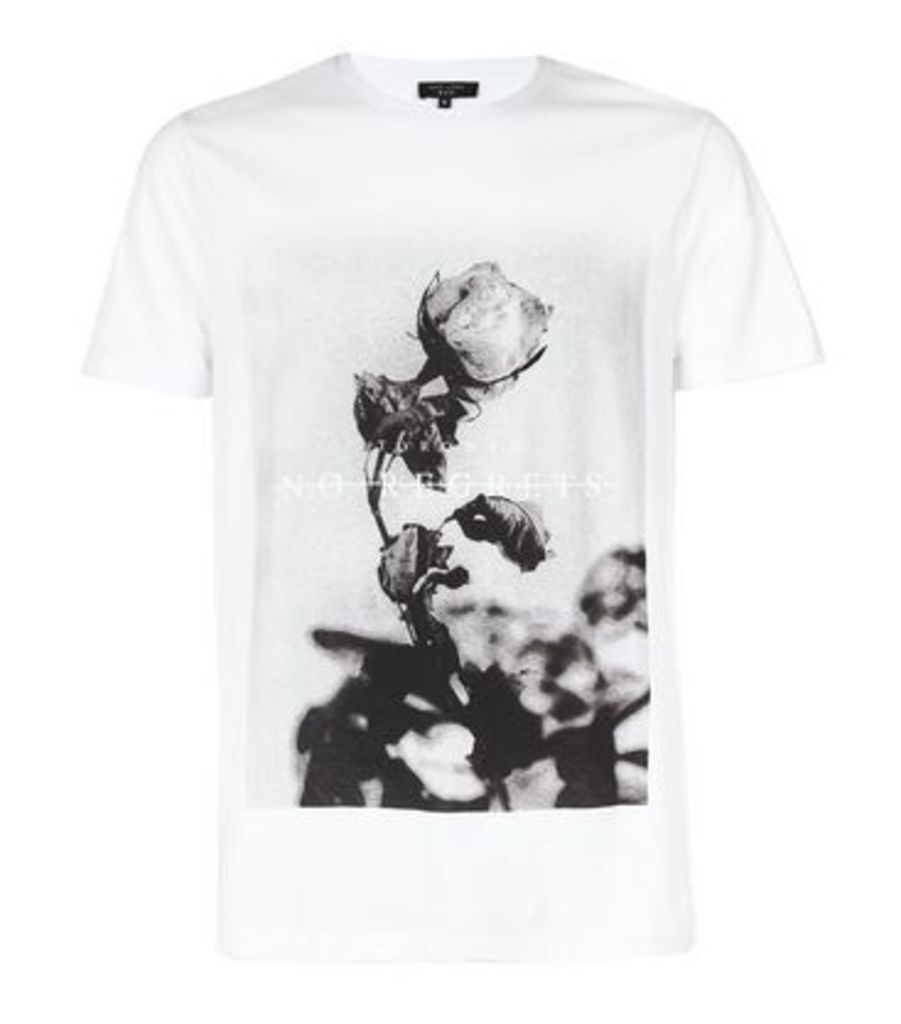 White No Regrets Slogan T-Shirt New Look