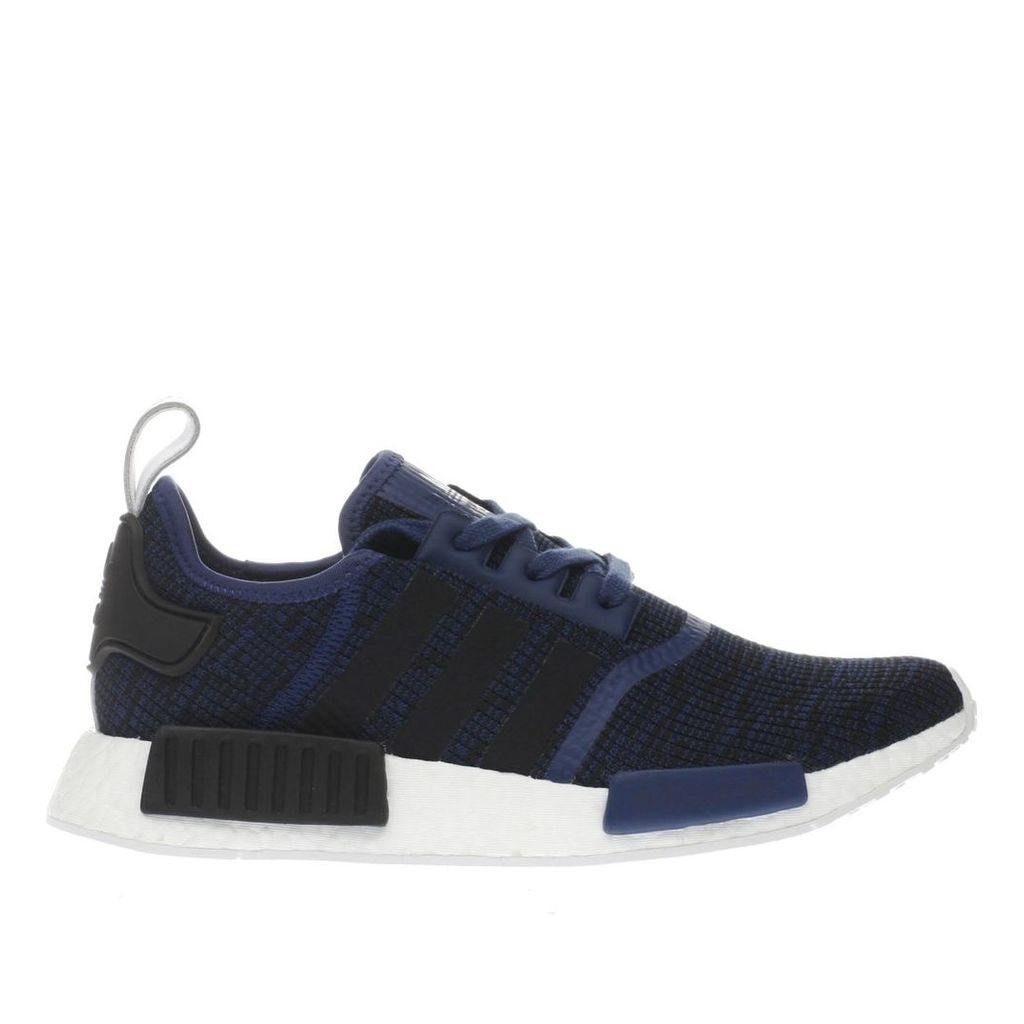 adidas black and blue nmd_r1 trainers