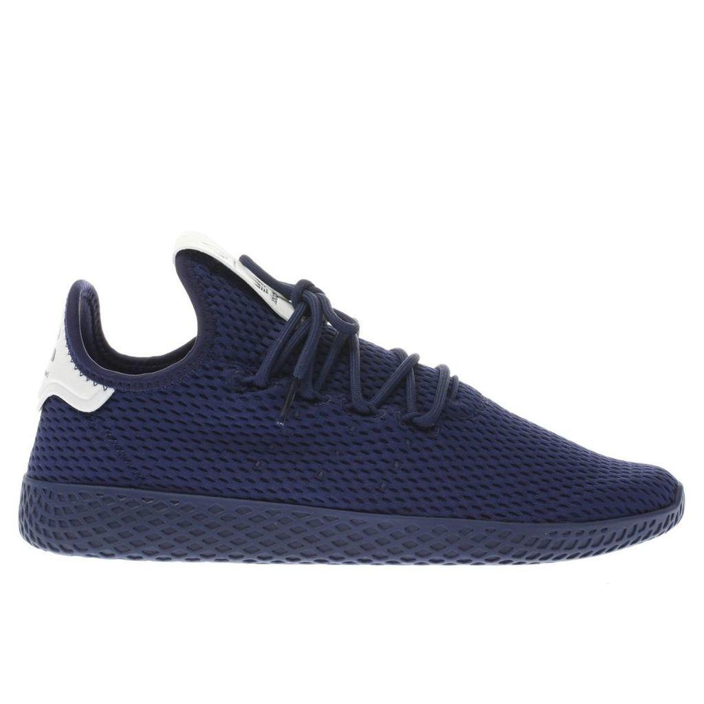 adidas navy pharrell williams tennis hu trainers