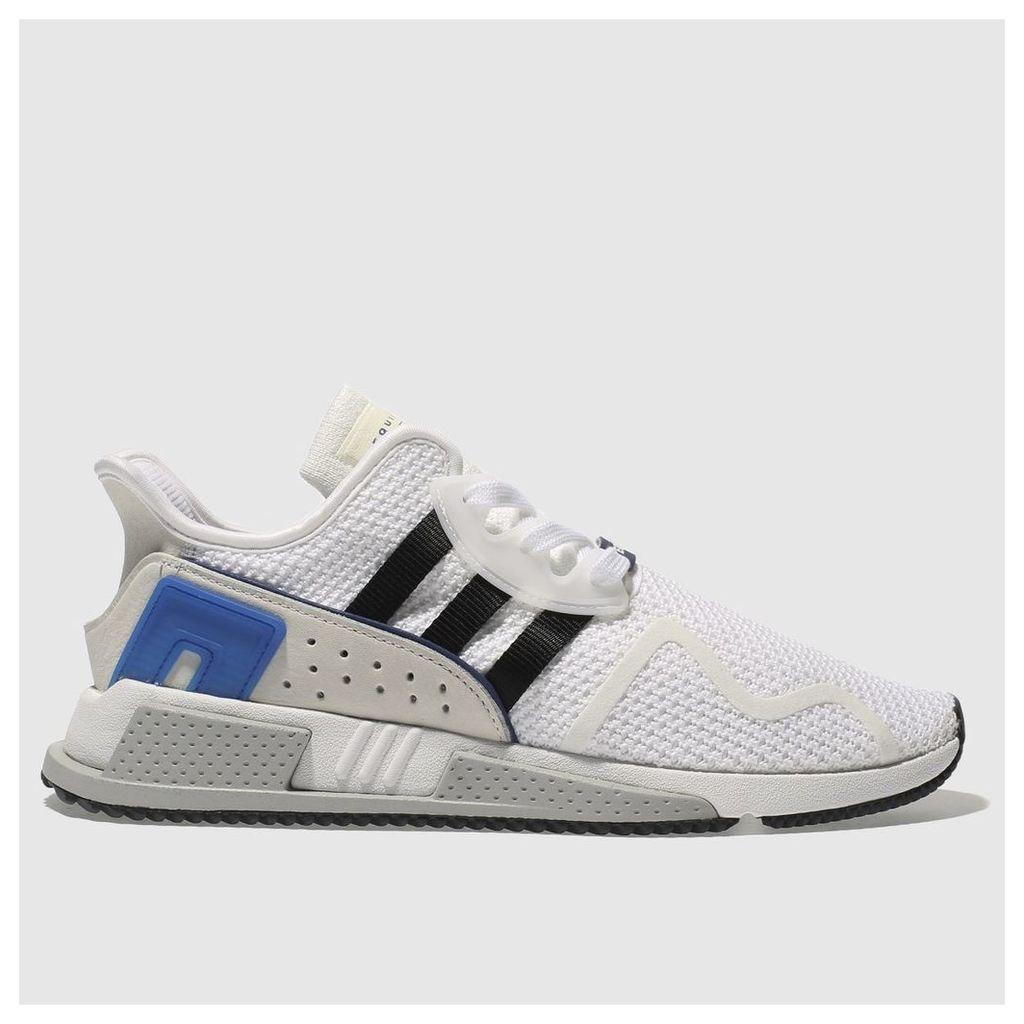 adidas white & black eqt cushion adv trainers