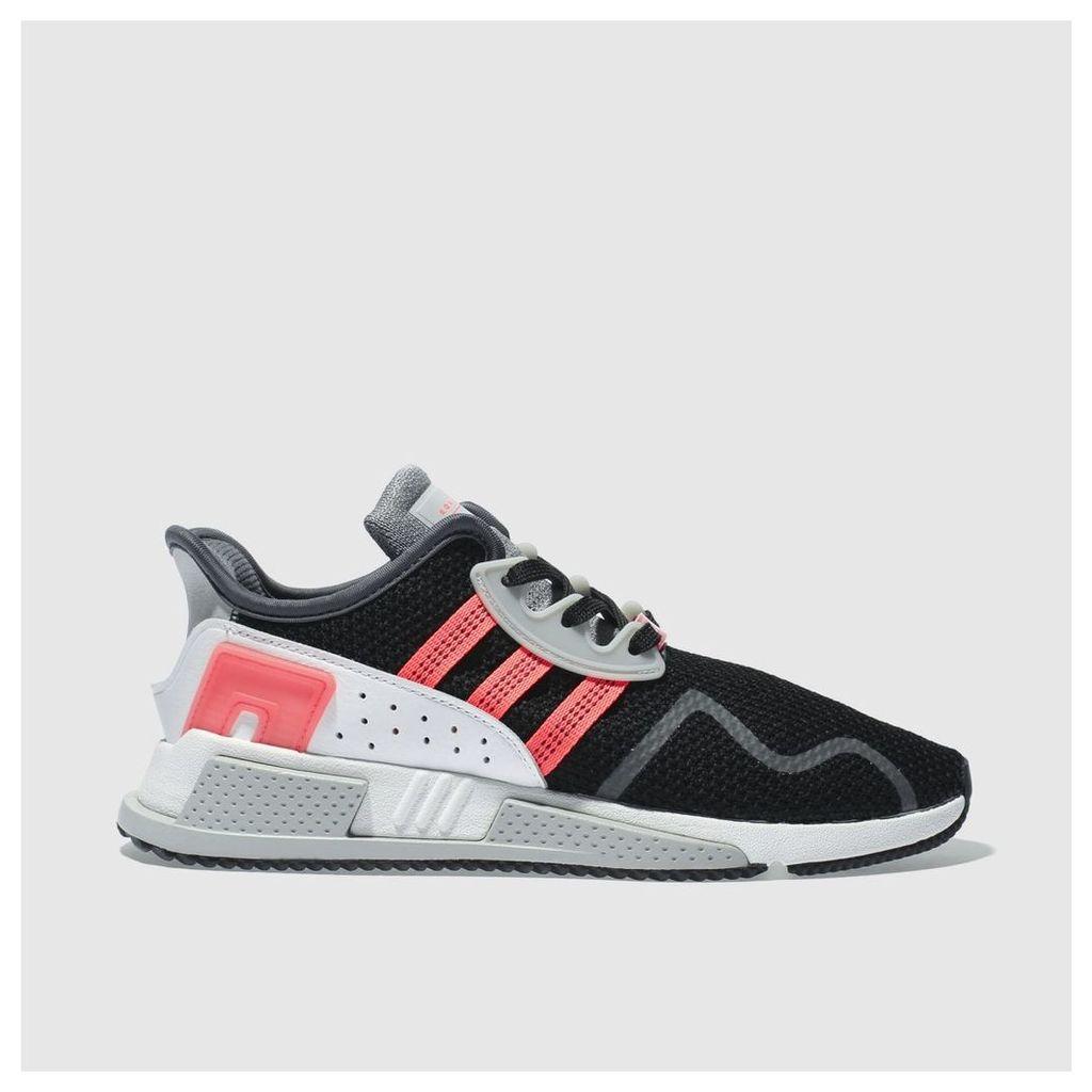 adidas black & pink eqt cushion adv trainers