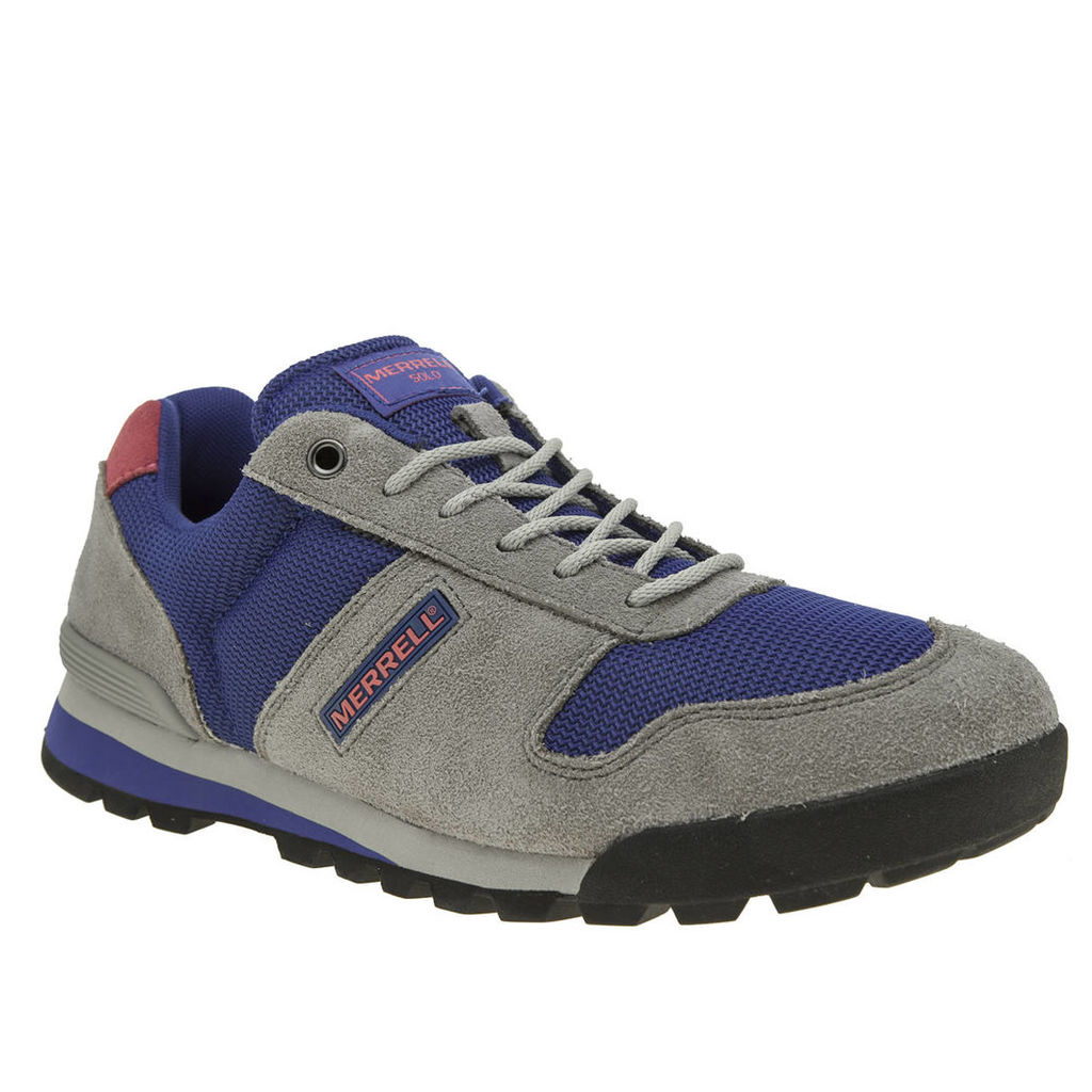 merrell light grey solo trainers