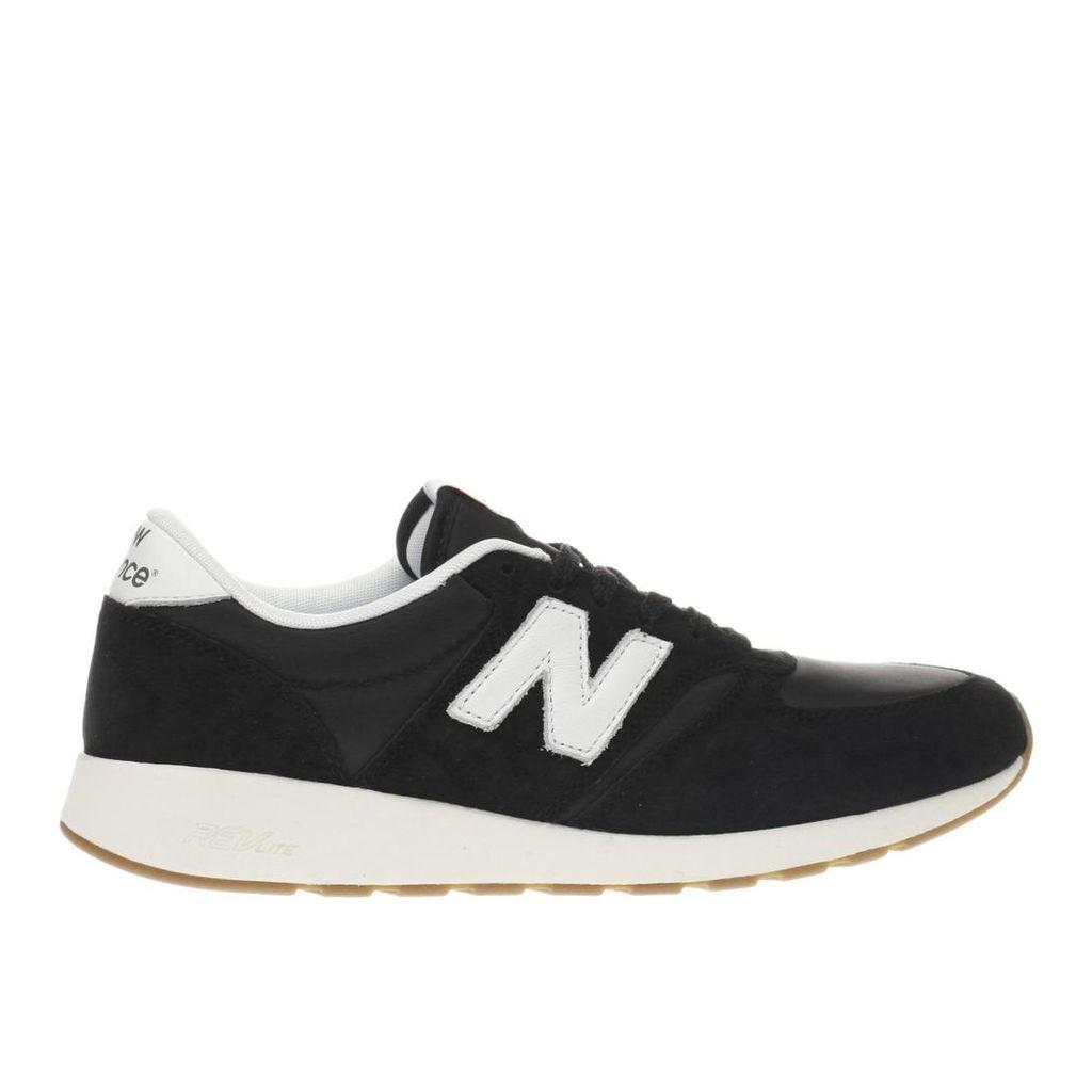 new balance black & white 420 trainers