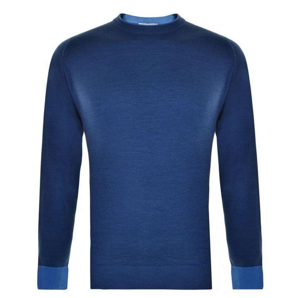 JOHN SMEDLEY Crew Neck Knit Sweatshirt