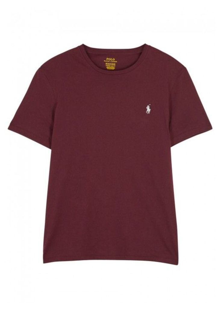 Polo Ralph Lauren Burgundy Slim Cotton T-shirt - Size XL