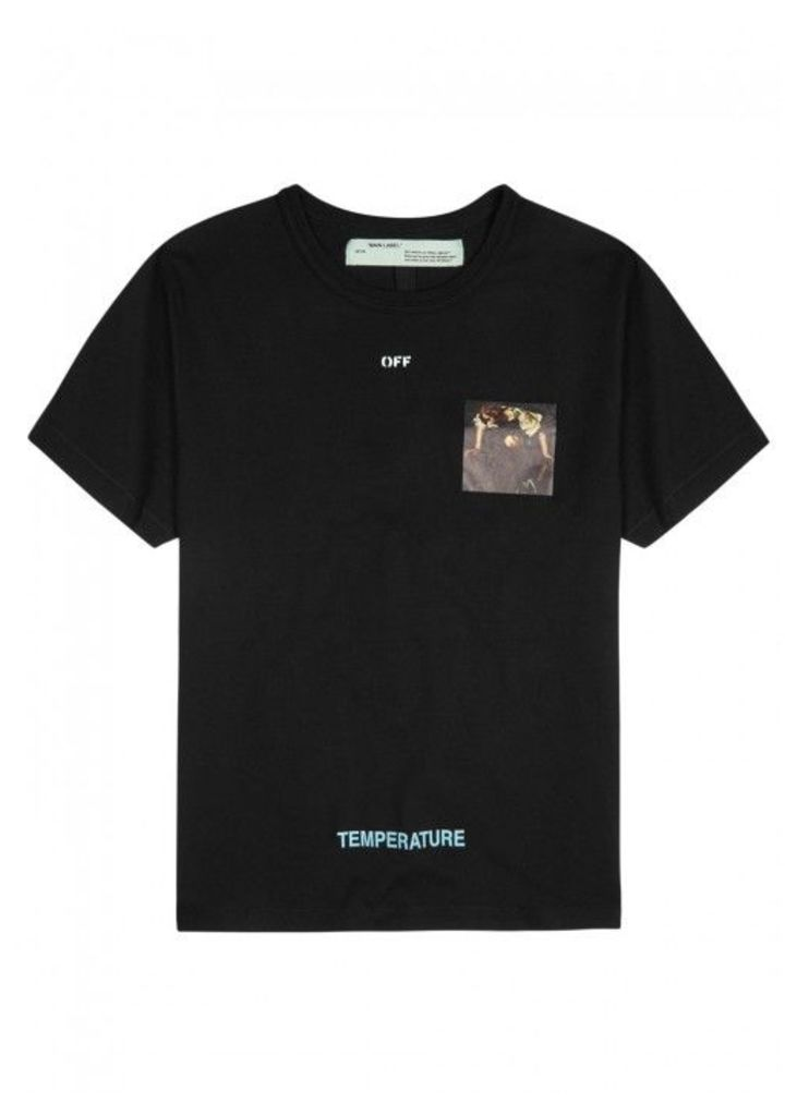 Off-white Caravaggio-print Cotton T-shirt - Size M
