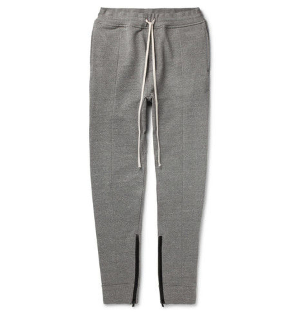 Slim-fit Tapered Loopback Cotton-blend Jersey Sweatpants