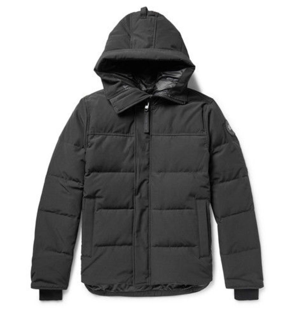 Black Label Macmillan Quilted Shell Hooded Down Parka