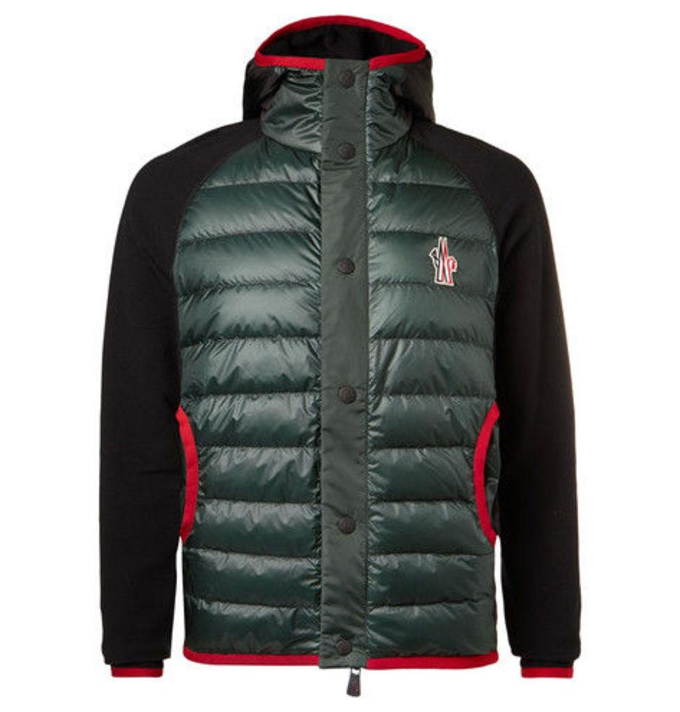 Fleece-panelled Padded Ski Jacket