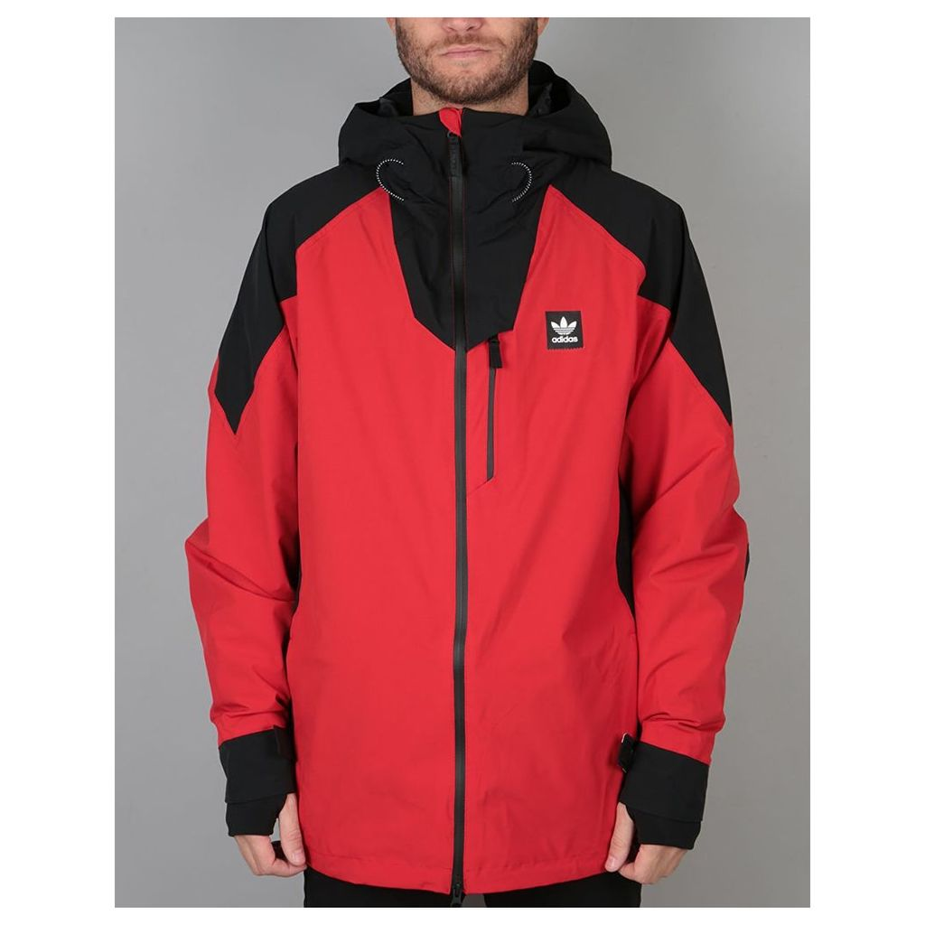Adidas Major Stretchin It 2018 Snowboard Jacket - Scarlet/Black (M)