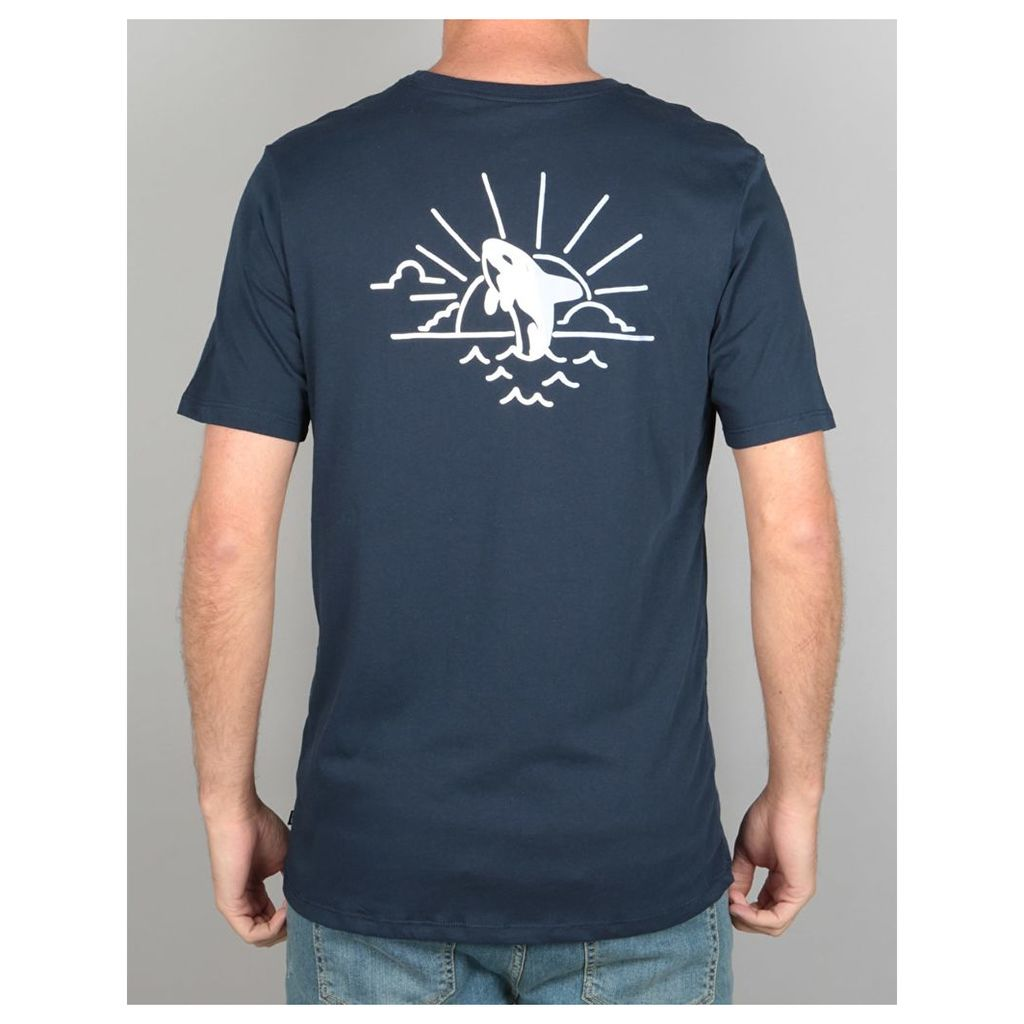 Nike SB DFC Whale T-Shirt - Obsidian/Hydrogen Blue (S)